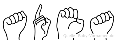 Adea in Fingersprache für Gehörlose