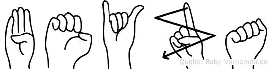 Beyza im Fingeralphabet der Deutschen Gebärdensprache