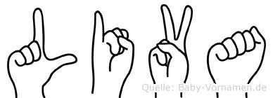 Liva in Fingersprache für Gehörlose