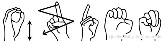 Özden im Fingeralphabet der Deutschen Gebärdensprache