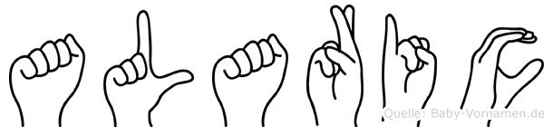 Alaric im Fingeralphabet der Deutschen Gebärdensprache