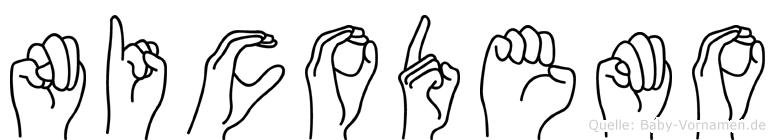 Nicodemo in Fingersprache für Gehörlose