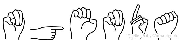 Ngenda im Fingeralphabet der Deutschen Gebärdensprache