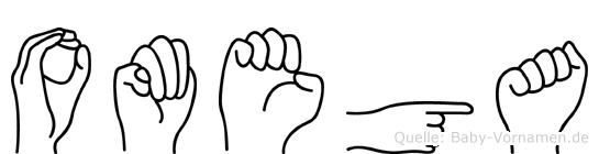 Omega in Fingersprache für Gehörlose