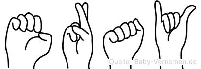 Eray im Fingeralphabet der Deutschen Gebärdensprache
