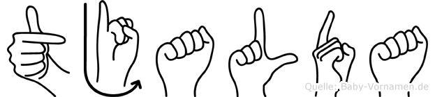 Tjalda in Fingersprache für Gehörlose