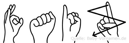 Faiz im Fingeralphabet der Deutschen Gebärdensprache
