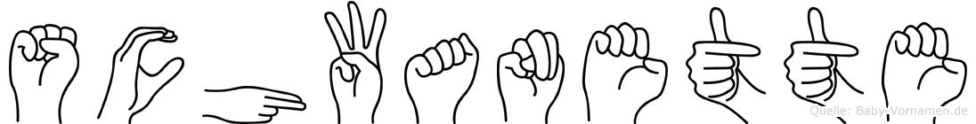 Schwanette im Fingeralphabet der Deutschen Gebärdensprache