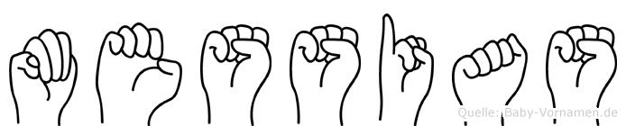 Messias im Fingeralphabet der Deutschen Gebärdensprache