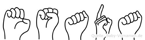 Esada im Fingeralphabet der Deutschen Gebärdensprache