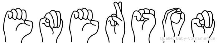 Emerson im Fingeralphabet der Deutschen Gebärdensprache