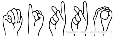 Mikko in Fingersprache für Gehörlose