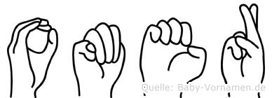 Omer im Fingeralphabet der Deutschen Gebärdensprache