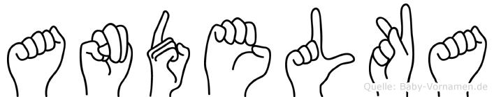 Andelka im Fingeralphabet der Deutschen Gebärdensprache