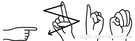 Gzim in Fingersprache für Gehörlose