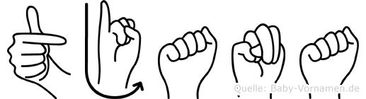 Tjana in Fingersprache für Gehörlose