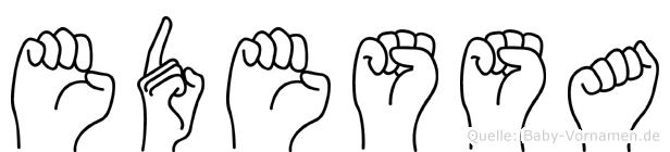 Edessa in Fingersprache für Gehörlose