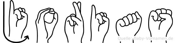 Jorias im Fingeralphabet der Deutschen Gebärdensprache