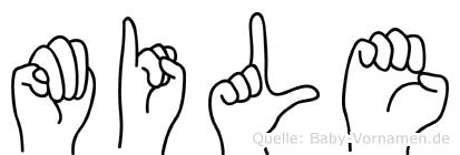 Mile im Fingeralphabet der Deutschen Gebärdensprache