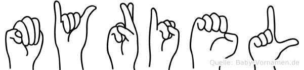 Myriel im Fingeralphabet der Deutschen Gebärdensprache