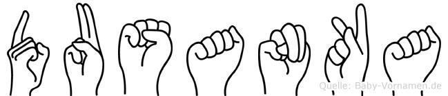 Dusanka im Fingeralphabet der Deutschen Gebärdensprache