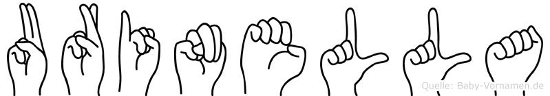 Urinella in Fingersprache für Gehörlose