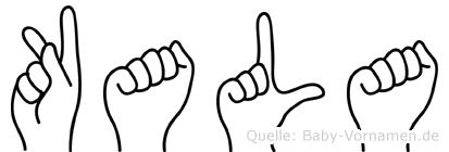 Kala in Fingersprache für Gehörlose