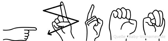 Gözden in Fingersprache für Gehörlose
