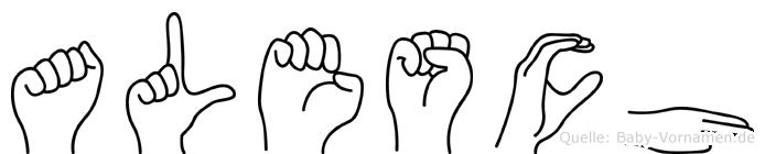 Alesch in Fingersprache für Gehörlose