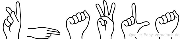 Khawla im Fingeralphabet der Deutschen Gebärdensprache