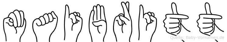 Maibritt im Fingeralphabet der Deutschen Gebärdensprache