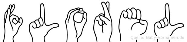 Florel im Fingeralphabet der Deutschen Gebärdensprache