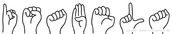 Isabela in Fingersprache für Gehörlose