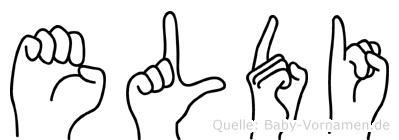 Eldi in Fingersprache für Gehörlose
