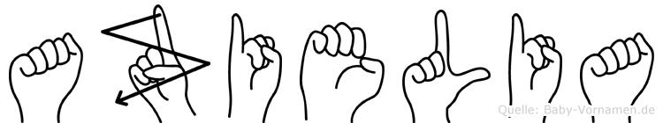 Azielia in Fingersprache für Gehörlose