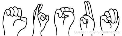 Efsun in Fingersprache für Gehörlose