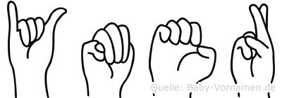 Ymer im Fingeralphabet der Deutschen Gebärdensprache