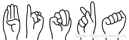 Binka im Fingeralphabet der Deutschen Gebärdensprache
