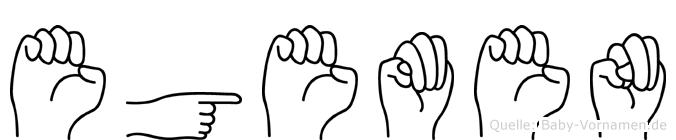Egemen im Fingeralphabet der Deutschen Gebärdensprache