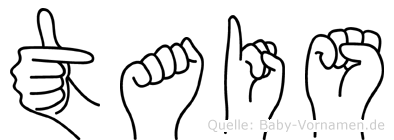 Tais im Fingeralphabet der Deutschen Gebärdensprache