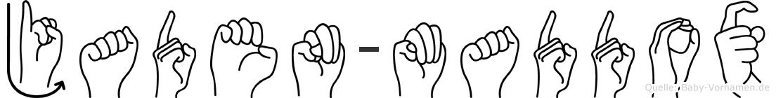Jaden-Maddox im Fingeralphabet der Deutschen Gebärdensprache