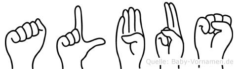 Albus in Fingersprache für Gehörlose