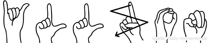 Yllzon im Fingeralphabet der Deutschen Gebärdensprache