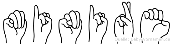 Minire in Fingersprache für Gehörlose