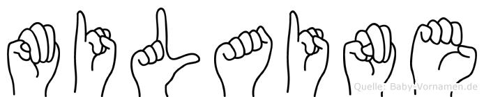 Milaine im Fingeralphabet der Deutschen Gebärdensprache