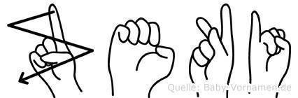 Zeki in Fingersprache für Gehörlose