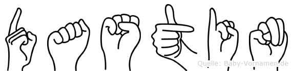 Dastin in Fingersprache für Gehörlose