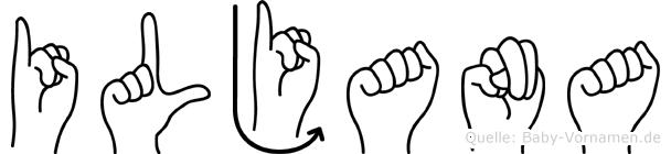 Iljana in Fingersprache für Gehörlose
