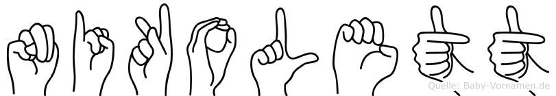 Nikolett im Fingeralphabet der Deutschen Gebärdensprache