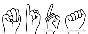 Nida in Fingersprache für Gehörlose